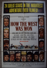 How the West Was Won Film Poster One Sheet
